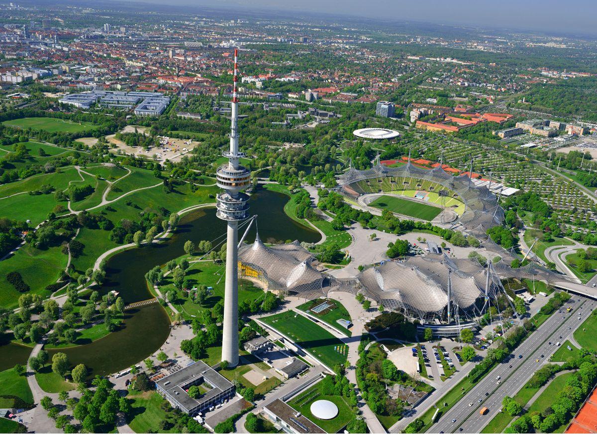 Aussenanlagen Olympiapark M 252 Nchen
